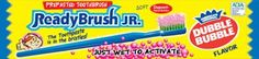 Proper oral hygiene can be fun with our licensed Dubble Bubble flavored ReadyBrushJr.. Bubblegum flavored paste is the overwhelming choice...