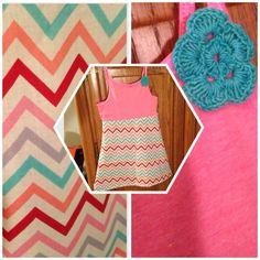 Chevron little girl dress made by Rcade