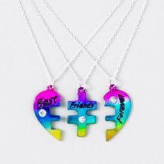 Heart Puzzle BFF Necklace Set