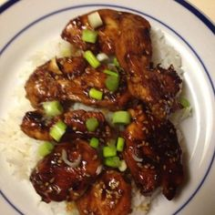 Ginger Scented Honey Hoisin Chicken Thighs With Sesame A yummy chicken recipe, submitted by Ruth Kendrick, Ogden, UT, and a 2009 Finalist in the Chicken Cooking contest put on by the National Chicken Council. Sesame Recipes, Duck Recipes, Asian Recipes, Healthy Recipes, Chinese Recipes, Turkey Recipes, Chinese Food, Yummy Chicken Recipes, Yummy Food