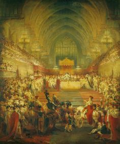 georgian-empress:  The Banquet at the Coronation of King George IV by George Jones. 1821.