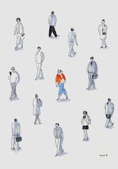 Figure Sketching, Urban Sketching, Figure Drawing, Sketches Of People, Drawing People, People Illustration, Illustration Art, Architecture People, Drawing Architecture