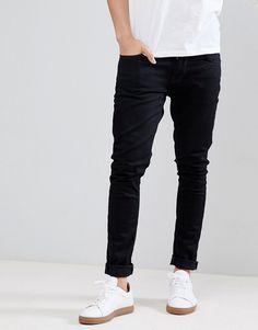 2b04b86b5 Nudie Jeans Co Tight Terry jeans in deep black. ModeSens Men