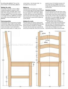 #328 Pine Dining Chair Plans - Furniture Plans and Projects
