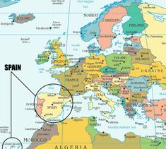 Europe Spain Map.27 Best Maps Of Spanish Speaking Countries Images Spanish Class