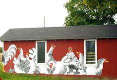 painted barn/coop