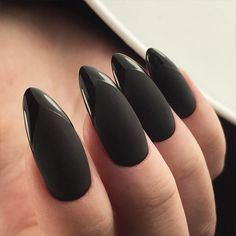 18 Trendy Black Nails Designs for Dark Colors Lovers ★ Matte Black Nails for Classy Look Picture 3 ★ See more: http://glaminati.com/black-nails-designs/ #blacknails #blacknailsdesigns