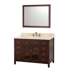 Avanity Lexington Single Bathroom Vanity - Light Espresso - Maybe? Bathroom Vanity Cabinets, Single Bathroom Vanity, Bathroom Vanity Lighting, Master Bathroom, Guest Bathrooms, Bathroom Sets, Modern Bathroom, Modern Vanity, Bath Vanities