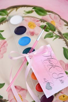 Watercolor wedding ideas | Anna Gleave Photography | see more on: http://burnettsboards.com/2014/05/pink-ombre-wedding-whimsical-details/