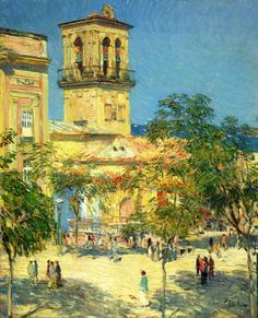 Childe Hassam - Street of the Great Captain, Cordoba, 1910