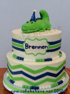 Cute alligator cake!