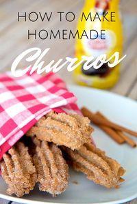 Easy Homemade Churro Recipe with a Hint of Chocolate via @jeanabeena