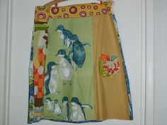 the fairy penguin tea-towel skirt