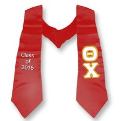 Theta Chi Graduation Stole with Twill Letters - TWILL