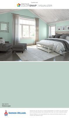 I found this color with ColorSnap® Visualizer for iPhone by Sherwin-Williams: Waterscape (SW 6470).