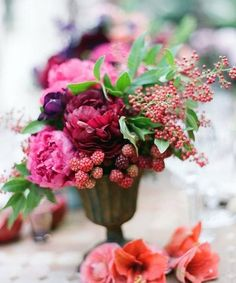 Berry shades are just awesome for summer, fall and winter weddings! Such a vivacious color scheme will raise everybody's mood, especially if it's cold and gloomy outside. Berry hues can be different – from hot pink to dark...