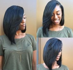 Black Hairstyles Sew In - bob sew in hairstyles gallery long bob with weave women Sew In Hairstyles, Long Bob Hairstyles, My Hairstyle, Fringe Hairstyle, Amazing Hairstyles, Bridal Hairstyle, Bob Haircuts, Hairstyle Ideas, Braided Hairstyles