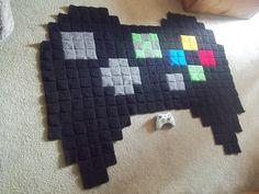 Crochet Xbox Controller : made out of large 3 inch crochet squares, is a giant xbox controller ...