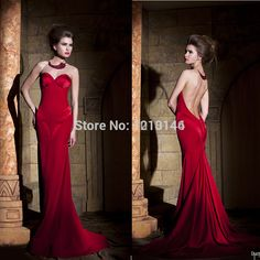 Long Satin Sleeveless Evening Dress