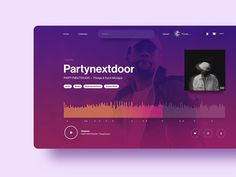 """We've curated the best music player designs on Dribbble for your inspiration. """"Music Player Inspiration — April is published by Collect UI. Web Music Player, Music Web, Music Page, Audio Player, Good Music, Gig Poster, Music Poster, User Interface Design, App Ui Design"""