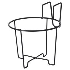 SVARTPEPPAR in/outdoor, black, Plant pot holder, Length: 16 cm - IKEA