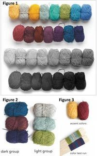 Find the perfect shade with this Fair Isle knitting tutorial on selecting colors. (For whenever I get brave enough to embark on Fair Isle knitting! Knitting Help, Knitting Charts, Loom Knitting, Knitting Stitches, Hand Knitting, Vintage Knitting, Knitting Machine, Knitting Buttonholes, Fair Isle Knitting Patterns