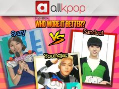 Who Wore it Best: Suzy vs. Youngjae vs. Sandeul