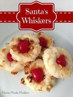 Home Made Modern: Christmas Cookie Jar: Santa's Whiskers