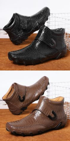 US 37.5 <Click to buy> Prelesty Big Size Men's Boots Shoes Dress Formal Breathable Handsome Crocodile Design Buckle Formal Shoes For Men, Men Formal, Men's Boots, Shoe Boots, Men Dress, Dress Shoes, Business Shoes, Martin Boots, Awesome Shoes