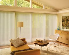 Luxaflex Luminette Privacy Sheers can be used in virtually any room and in any rectangular window or door opening.