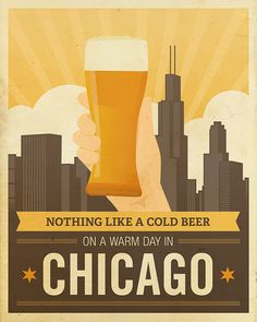 Nothing Like a Cold Beer on a Warm Day in Chicago by LuciusArt, $49.00 #etsy