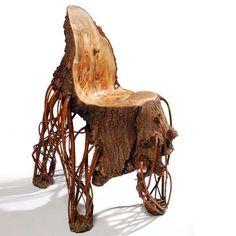 Tree Trunk Chair by Floris Wubben.