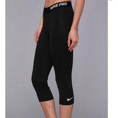 2 Pairs! Grey & Black Nike Pro Capri Tights Medium EUC Nike Pro Capris (2) tags cut out Nike Pants Leggings