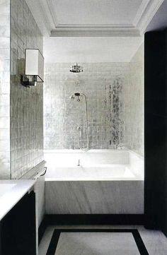 bath metallic tile