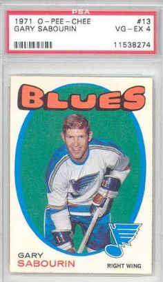 1971-72 OPC Hockey 13 Gary Sabourin Blues PSA 4 Very Good to Excellent by O-PEE-CHEE. $4.00. This vintage card featuring Gary Sabourin is # 13 from the 1971-72 OPC set