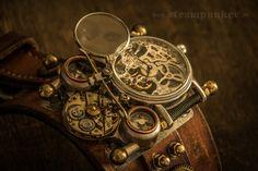 large mechanical steampunk wristwatch...  www.steampunker.de www.facebook.de/steampunkArtwork