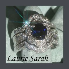 sigh...I love diamonds and sapphires.  This is beautiful!