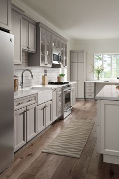 HomeCrest Cabinetry can find  solutions for a functional space with multiple work areas.