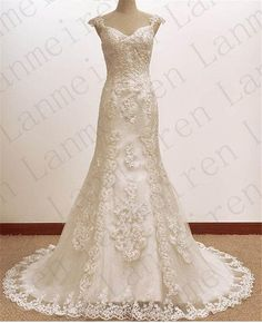 White/ivory Lace Wedding Dress Princess Wedding Gowns Bridal Gown Bridal Dresses Custom