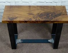 Small Oak and Steel Coffee Table/ Side Table