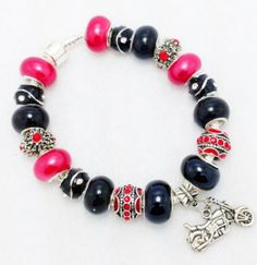 Jewelry by Graceandliz European Style, European Fashion, Red Motorcycle, Etsy Store, Jewelery, Motorcycles, Pandora, Bling, Awesome