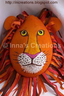 paper mache lion pinata