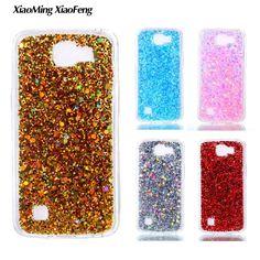 For LG K4 Case Silicone Transparent Side Phone Case LG K4 TPU Case Glitter Bling Back Cover For LG K4 lte 4g K130e K120e Housing #Affiliate