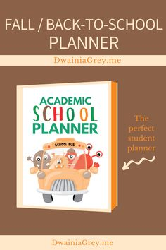 Keep your family organized by planning your family's fall activities. This colorful planner for kids and the whole family to use to plan your autumn and back-to-school. Comes with 2 printable PDF versions and 12+ cover options. BACK TO SCHOOL VERSION - includes special school sections:- Class Schedule- Student Goals and Monthly Goals- School Information Page- Lesson Notes- Assignment Lists- Exam Schedule- Back-to-School Shopping List (2 options)- After School Activity Planner Kids Planner, School Planner, Exam Schedule, School Information, Student Goals, Family Organizer, Back To School Shopping, Autumn Activities, Me Time