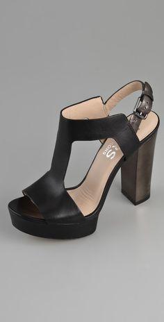 KORS Michael Kors Vernon Platform T-Strap Sandals | SHOPBOP