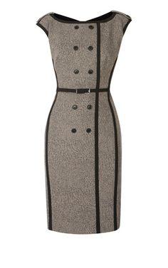 Karen Millen woolen subtle animal print dress.