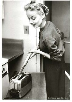 You mean to tell me you don't vacuum your toaster?! ;) #vintage #housework #homemaker