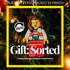 Christmas Gift List, Christmas Ornaments, Personalised Keyrings, Custom Lego, Support Small Business, Secret Santa, Frames, November, Range