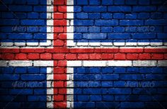 Brick wall with painted flag of Iceland misc Iceland Flag, Pattern Photography, Backdrop Background, Flag Decor, Brickwork, Wall Wallpaper, Brick Wall, Textures Patterns, Graphic Prints