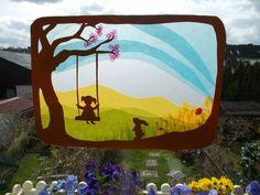Jahreszeitentisch - Waldorf Transparentbild Frühling - ein Designerstück von Puppenprofi bei DaWanda